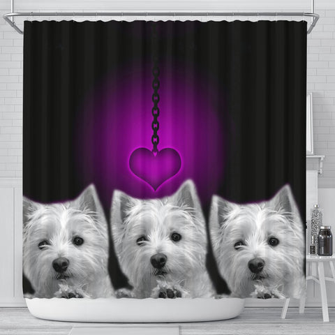West Highland White Terrier (Westie) Print Shower Curtain-Free Shipping