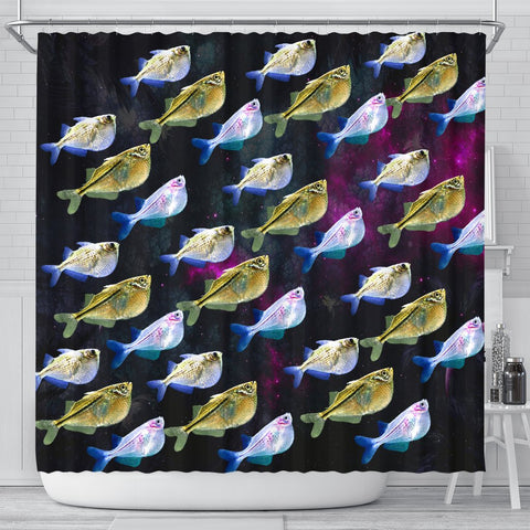Common Hatchetfish (River Hatchetfish) Print Shower Curtains-Free Shipping
