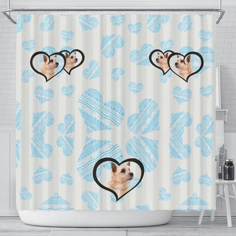 Norwich Terrier Print Shower Curtain-Free Shipping