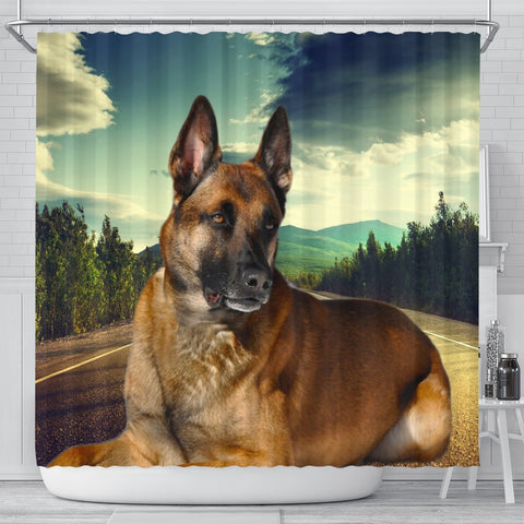Malinois Dog Print Shower Curtains-Free Shipping