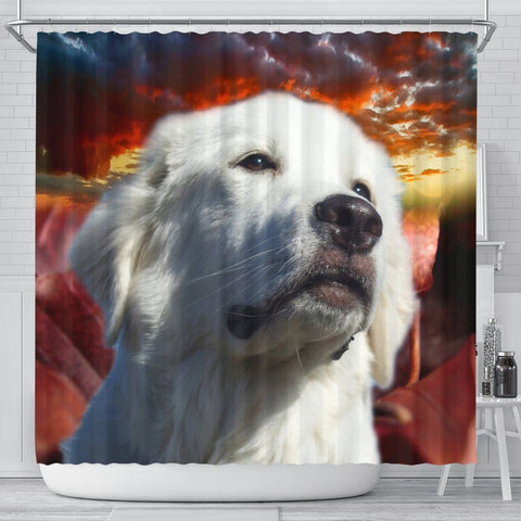 Great Pyrenees Print Shower Curtains-Free Shipping
