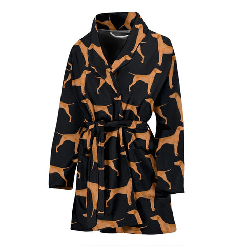 Amazing Vizsla Dog Pattern Print Women's Bath Robe-Free Shipping