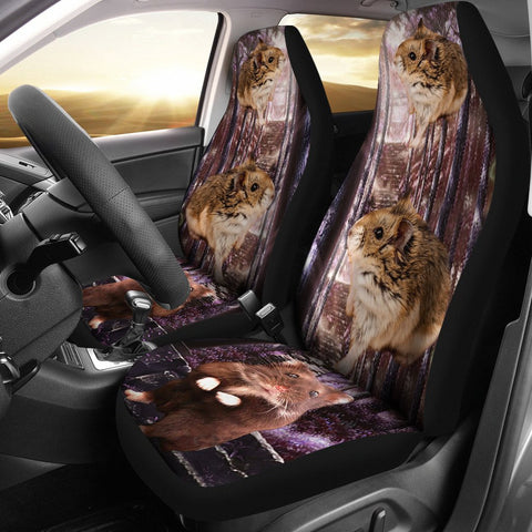 Djungarian Hamster (Dwarf Hamster) Print Car Seat Covers- Free Shipping