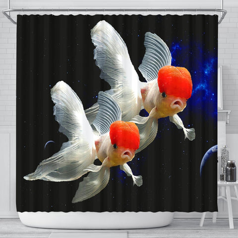 Oranda Fish Print Shower Curtains-Free Shipping