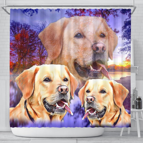 Labrador Retriever Print Shower Curtains-Free Shipping