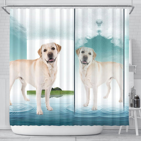 Labrador Retriever Dog Print Shower Curtain-Free Shipping