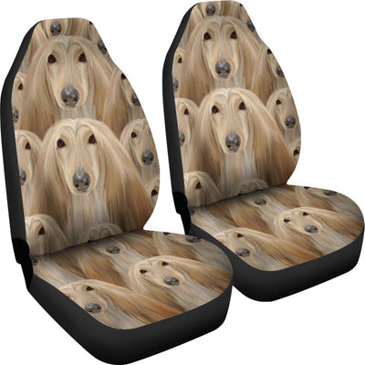 Afghan Hound Dog In Lots Print Car Seat Covers-Free Shipping - Home Resources USA