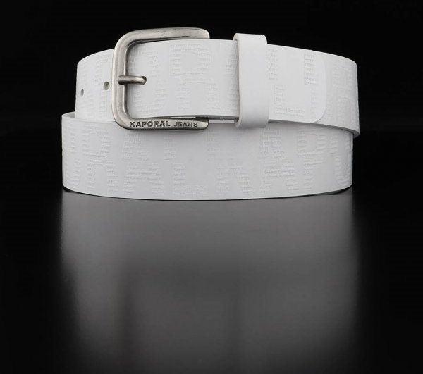 Hamir Men's Leather Belt (Matt White)