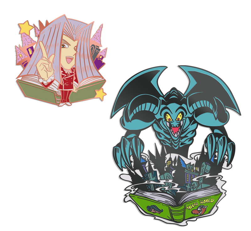 Pegasus and Toon Summoned Skull Pin Set