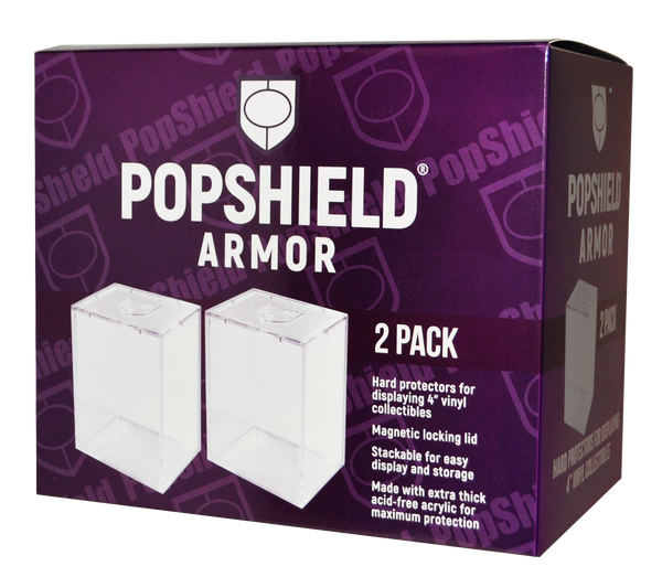 PopShield Armor Hard Protectors 2-Count - Stackable with Magnetic Lid