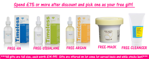 Get 15% OFF your entire orer + Full size Timeless Skin Care Free Gifts at www.timeless-uk.com!
