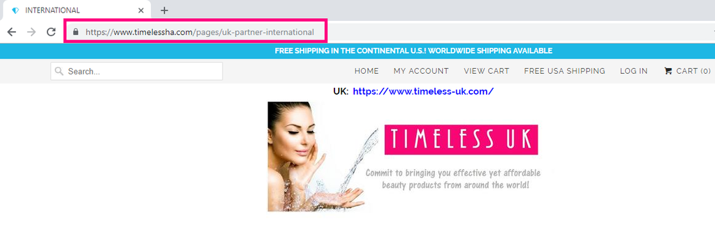 Timeless UK - The Official International Partner of Timeless Skin Care UK and Europe since 2017. Visit our online store at www.timeless-uk.com for our extensive Timeless collection