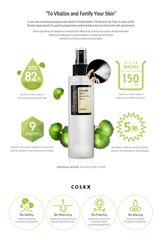 CosRx Centella Water Alcohol Free Toner at www.timeless-uk.com