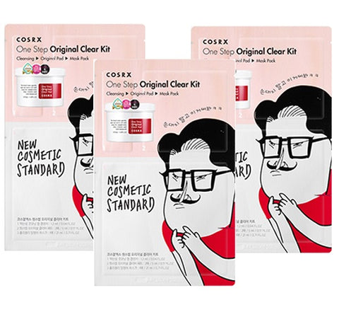 3 x CosRx One Step Original Clear Kit (3-Step Sheet Mask Kit)