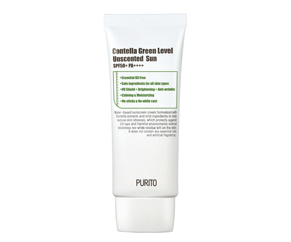 PURITO Green Level Unscented Sun SPF50 PA++++ is available at Timeless UK. Visit us at www.timeless-uk.com for product details and our latest offers!