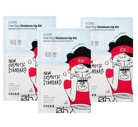 3 x CosRx One Step Moisture Up Kit - (3-Step Sheet Mask Kit)
