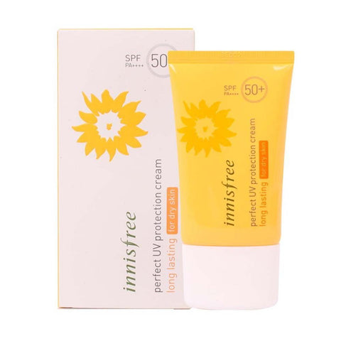Innisfree Perfect UV Protection Cream Long Lasting SPF50+ PA+++ now available at www.timeless-uk.com