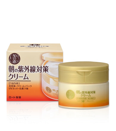 < NEW ARRIVAL > Rohto 50 Megumi Morning UV Protection Cream SPF 50+ / PA++++ - 90g