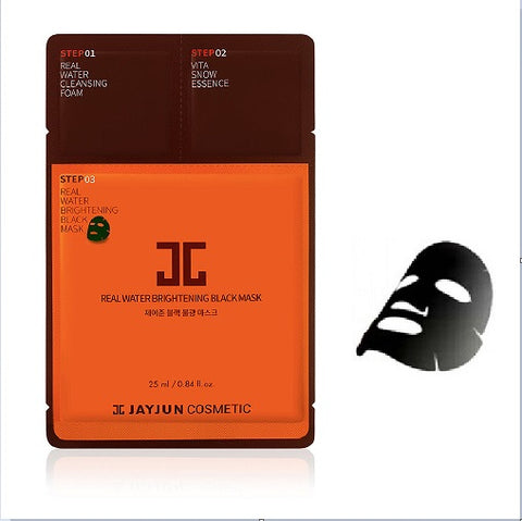 JayJun Real Water Brightening Black Mask - 3-Step Sheet Mask Set at www.timeless-uk.com