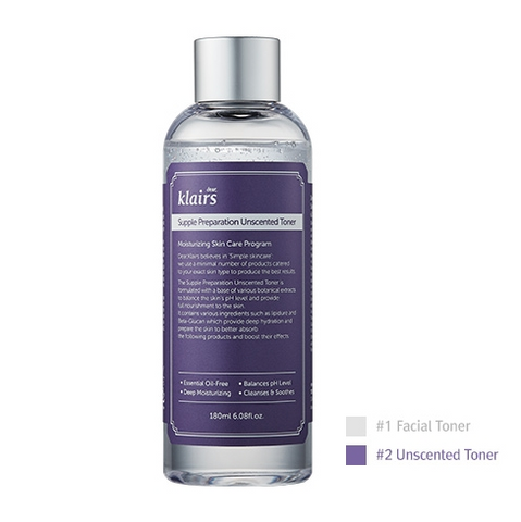 <NEW ARRIVAL> KLAIRS Supple Preparation Unscented Toner  - 180ml / 6 fl. oz