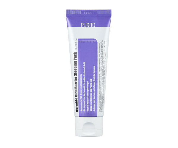 < NEW ARRIVAL > PURITO - Dermide Cica Barrier Sleeping Pack - 80ml - Now available on our sister website www.Barefection.com