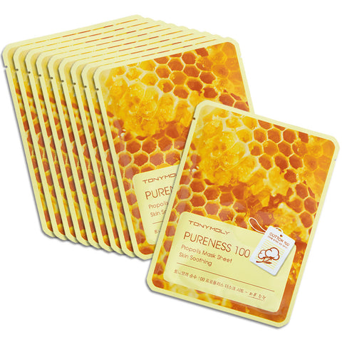 TONYMOLY Pureness 100 Mask Sheets - Set of 10 individually packaged sheet masks.