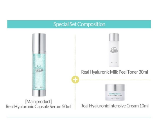 < NEW ARRIVAL > WELLAGE Real Hyaluronic Capsule Serum Special Set - Now available on our sister website www.Barefection.com