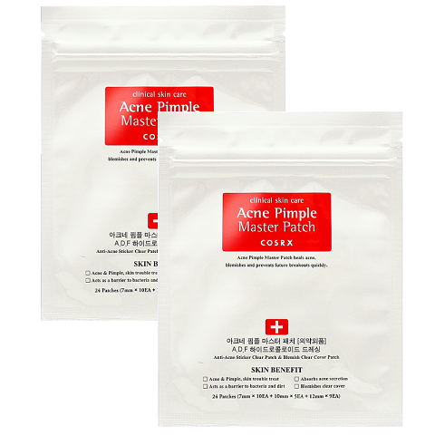 2 x Cosrx Acne Pimple Master Patch Packet ( Each contains 24 Patches of various sizes)