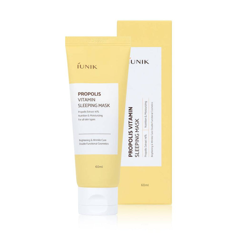 iUNIK - Propolis Vitamin Sleeping Mask is now available at Timeless UK.Visit us at www.timeless-uk.com for product details and our latest offers!