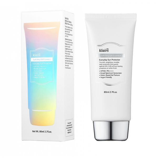 Klairs Soft Airy UV Essence SPF 50 PA++++ at Timeless UK. Visit us at www.timeless-uk.com for product details and our latest offers!