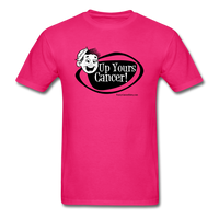 Up Yours Cancer Men's T-Shirt [product type] - Funny Cancer T Shirts and Chemo Gifts