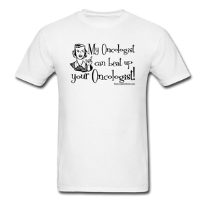My Oncologist Men's T-Shirt [product type] - Funny Cancer T Shirts and Chemo Gifts