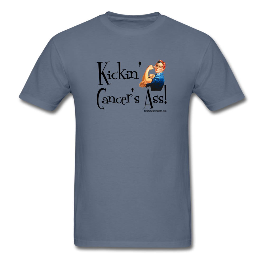 Kickin' Cancer's Ass Men's T-Shirt [product type] - Funny Cancer T Shirts and Chemo Gifts