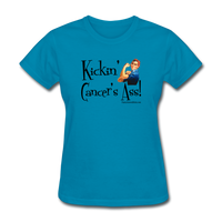 Kickin' Cancer's Ass Women's T-Shirt [product type] - Funny Cancer T Shirts and Chemo Gifts