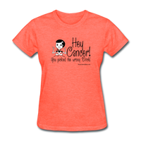 Cancer Picked the Wrong Bitch Women's T-Shirt [product type] - Funny Cancer T Shirts and Chemo Gifts