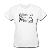 My Oncologist Can Beat Up Your Oncologist Women's T-Shirt [product type] - Funny Cancer T Shirts and Chemo Gifts