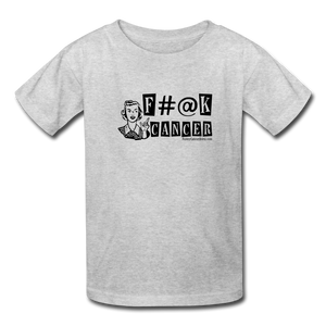 F#@K Cancer Kids' T-Shirt [product type] - Funny Cancer T Shirts and Chemo Gifts