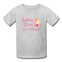 Fighting Cancer and Still Fabulous Kids' T-Shirt [product type] - Funny Cancer T Shirts and Chemo Gifts
