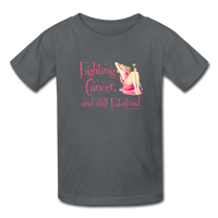 Fighting Cancer and Still Fabulous Kids' T-Shirt - Funny Cancer Shirts