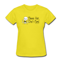 Chemo Hair, Don't Care Women's T-Shirt [product type] - Funny Cancer T Shirts and Chemo Gifts