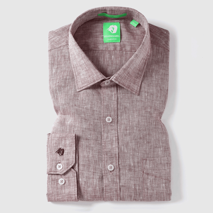 Mid Brown Linen Solid Shirt