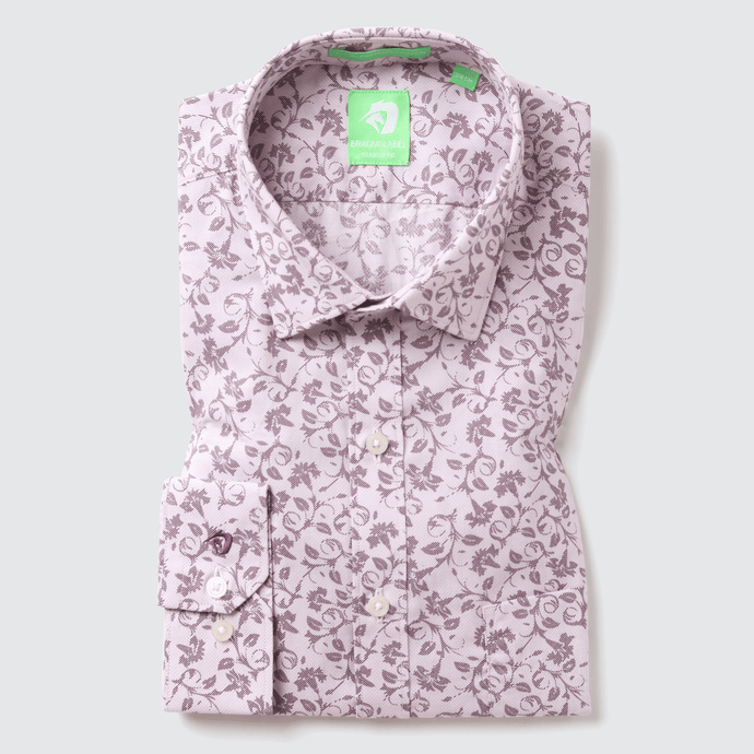 Light Pink Floral Printed Shirt