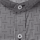 Black Geometric Printed Shirt (Mandarin Collar)