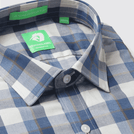 Blue Melange Check Shirt