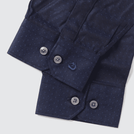 Navy Leaf Pattern Shirt