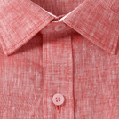 Red Linen Solid Shirt