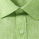 Green Linen Solid Shirt