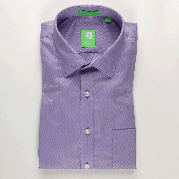 Light Purple Micro Dobby Shirt (Half Sleeves)