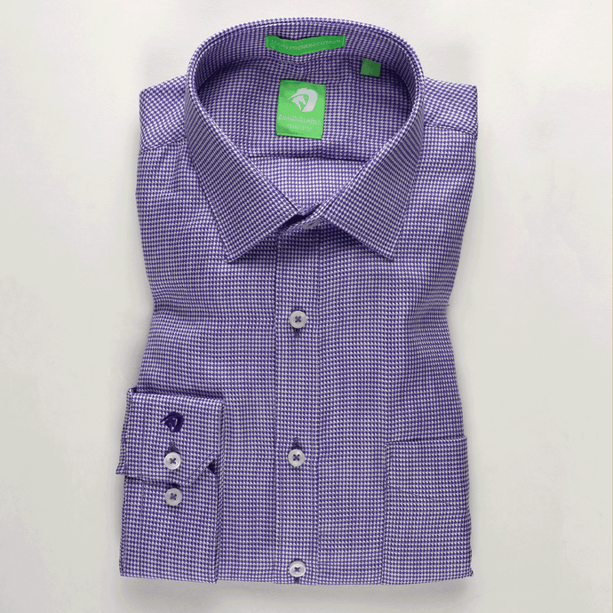 Purple Houndstooth Pattern Shirt