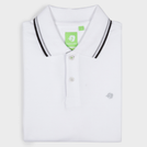 White Fashion Solid Polo